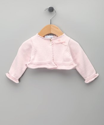 Rosa Bow Knit Tricot Bolero - Infant & Girls