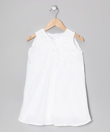 Blanco Pleated Dress - Infant