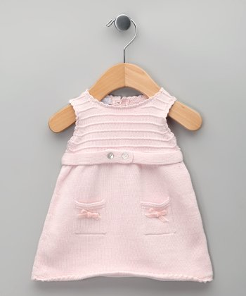 Rosa Bow Knit Tricot Dress - Infant