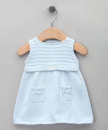 Celeste Bow Knit Tricot Dress - Infant
