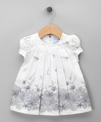 Blanco Flower Garden Dress - Infant & Toddler