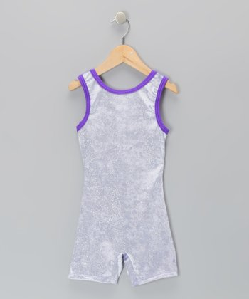 Lilac Glitter Velvet Biketard - Toddler & Girls