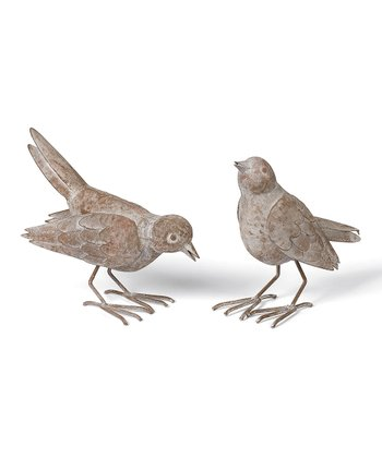 French Market Bird Figurine Set