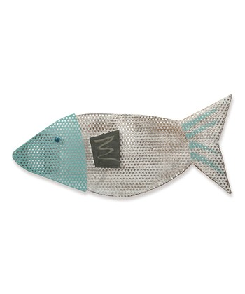 Blue Perforated Fish Wall Art