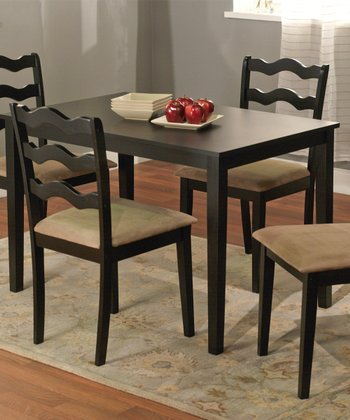 Black Riviera Five-Piece Dining Set
