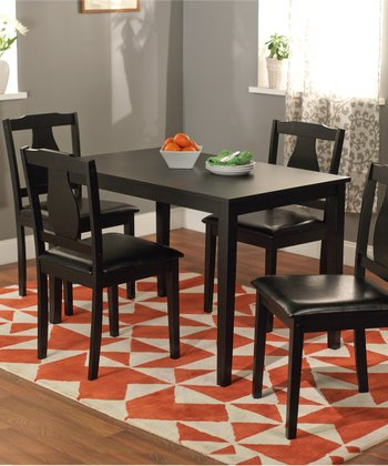 Black Kaylee Five-Piece Dining Set