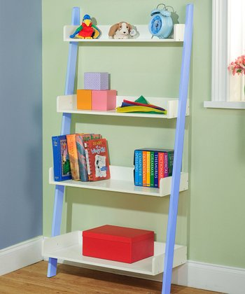 Blue Four-Tier Shelf Unit