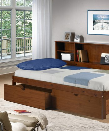 Cherokee Bookcase & Under-Bed Drawer Twin Bed Set