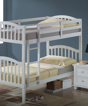 White Arch Mission Convertible Bedroom Set