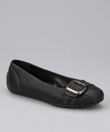 Black Smooth Lorena Ballet Flat