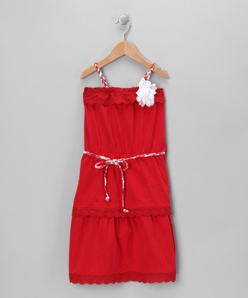 Red Senorita Dress - Toddler & Girls