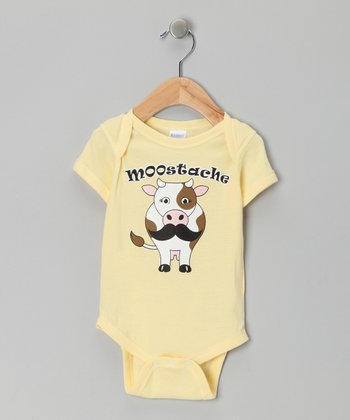 Banana 'Moostache' Bodysuit - Infant
