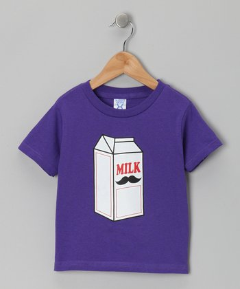 Purple Milk Carton Mustache Tee - Infant, Toddler & Kids
