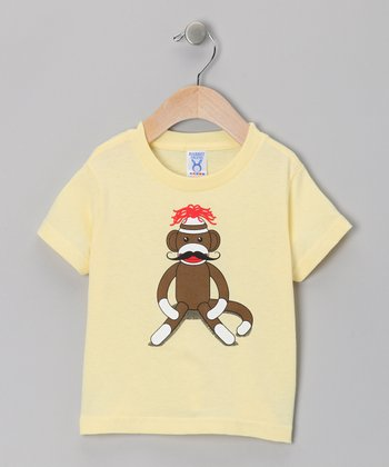 Banana Sock Monkey Mustache Tee - Toddler & Kids
