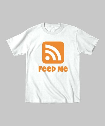 White 'Feed Me' Tee - Toddler & Kids
