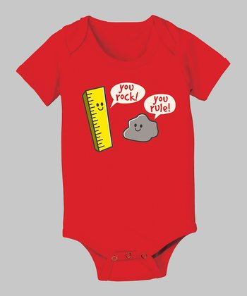 Red 'You Rock!' Bodysuit - Infant