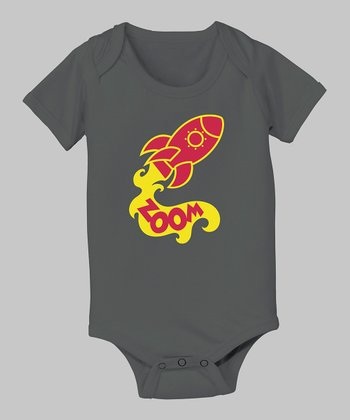 Charcoal Rocket 'Zoom' Bodysuit - Infant