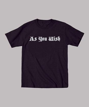 Black 'As You Wish' Tee - Toddler & Kids