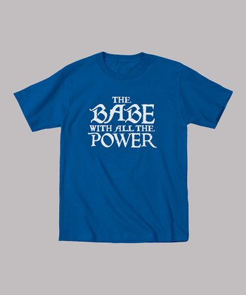 Royal Blue 'Babe With All the Power' Tee - Toddler & Kids