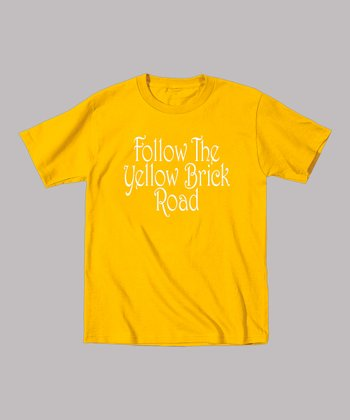 Yellow 'Follow the Yellow Brick Road' Tee - Toddler & Kids