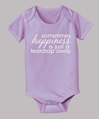 Lavender 'Teardrop Away' Bodysuit - Infant