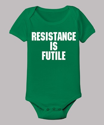 Kelly Green 'Resistance IsFutile' Bodysuit - Infant