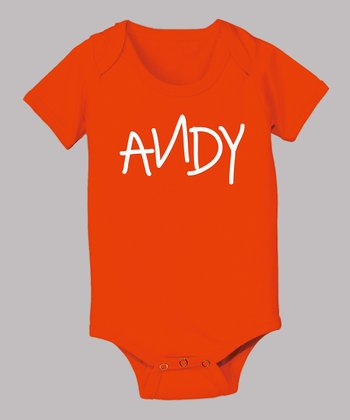 Orange 'Andy' Bodysuit - Infant