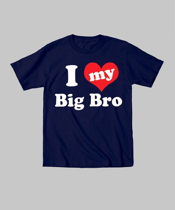 Navy 'I Love My Big Bro' Tee - Infant, Toddler & Kids