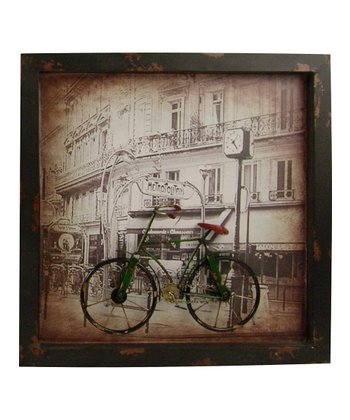 Green Metal Bicycle Wall Art