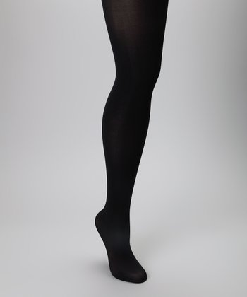 Black Microfiber Tights Set
