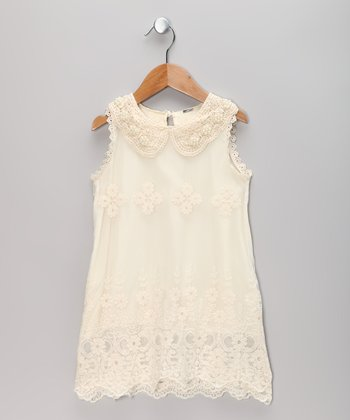 Ivory Lace Sheath Dress - Toddler & Girls