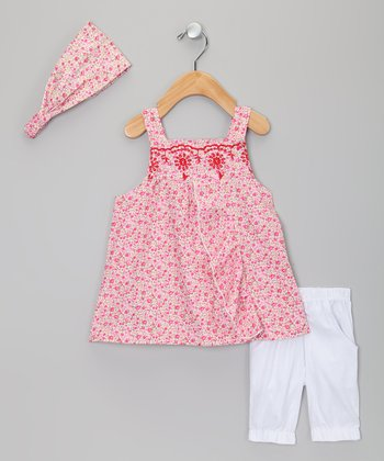 Red Floral Tunic Set - Infant