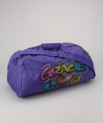 Purple Peace Personalized Duffel Bag