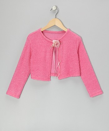 Fuchsia Flower Bolero - Girls