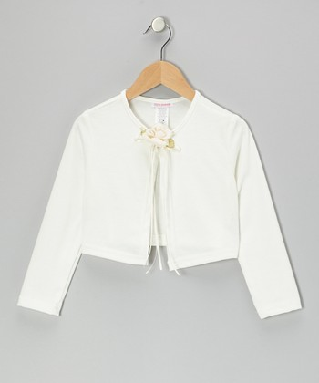 Ivory Flower Bolero - Toddler & Girls