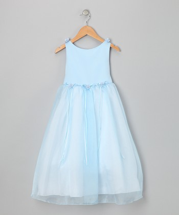 Blue Bow Dress - Infant, Toddler & Girls