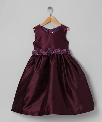 Eggplant Rosette Dress - Infant, Toddler & Girls