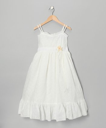 White Eyelet Dress - Toddler & Girls