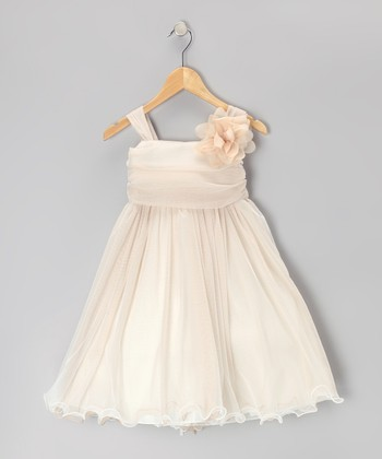 Champagne Chiffon Dress - Toddler & Girls