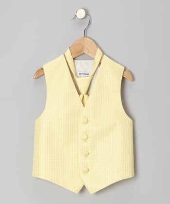 Yellow Square Vest - Toddler & Boys