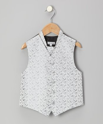 Silver Floral Vest - Infant, Toddler & Boys