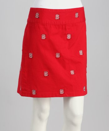 Red North Carolina State Stadium Skirt - Women