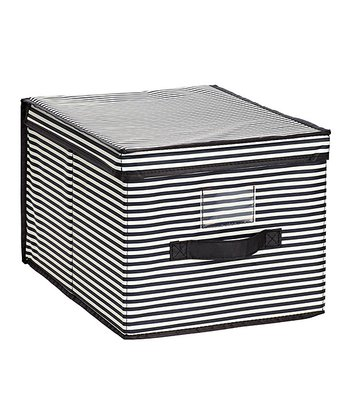 Black & White Stripe Large Storage Box