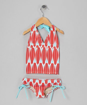 Patriotic Surf Avery Tankini - Girls