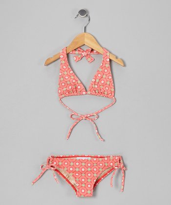 Peach Sunburst Mack B Bikini - Girls