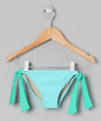 Squirtini Bikini Aqua & Sea Foam Mack Bikini Bottoms - Girls