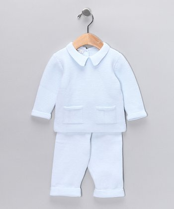 Light Blue Fall Classics Sweater & Pants - Infant