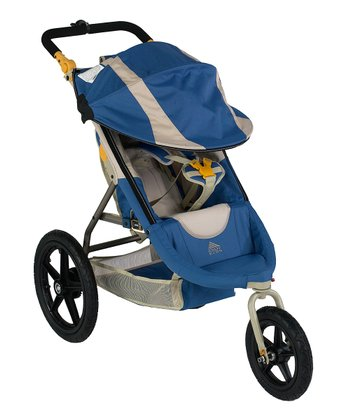 Blue Speedster Swivel Deluxe Stroller