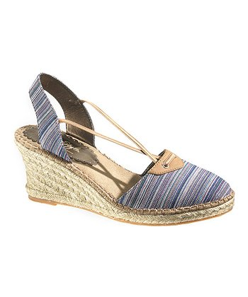 Blue Stripe Biscayne Bay Espadrille - Women
