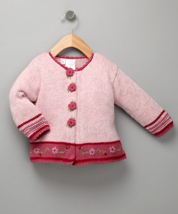 Dust Pink Flower Cardigan